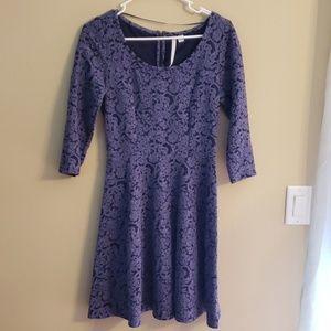 Lauren Conrad paisley A-frame dress